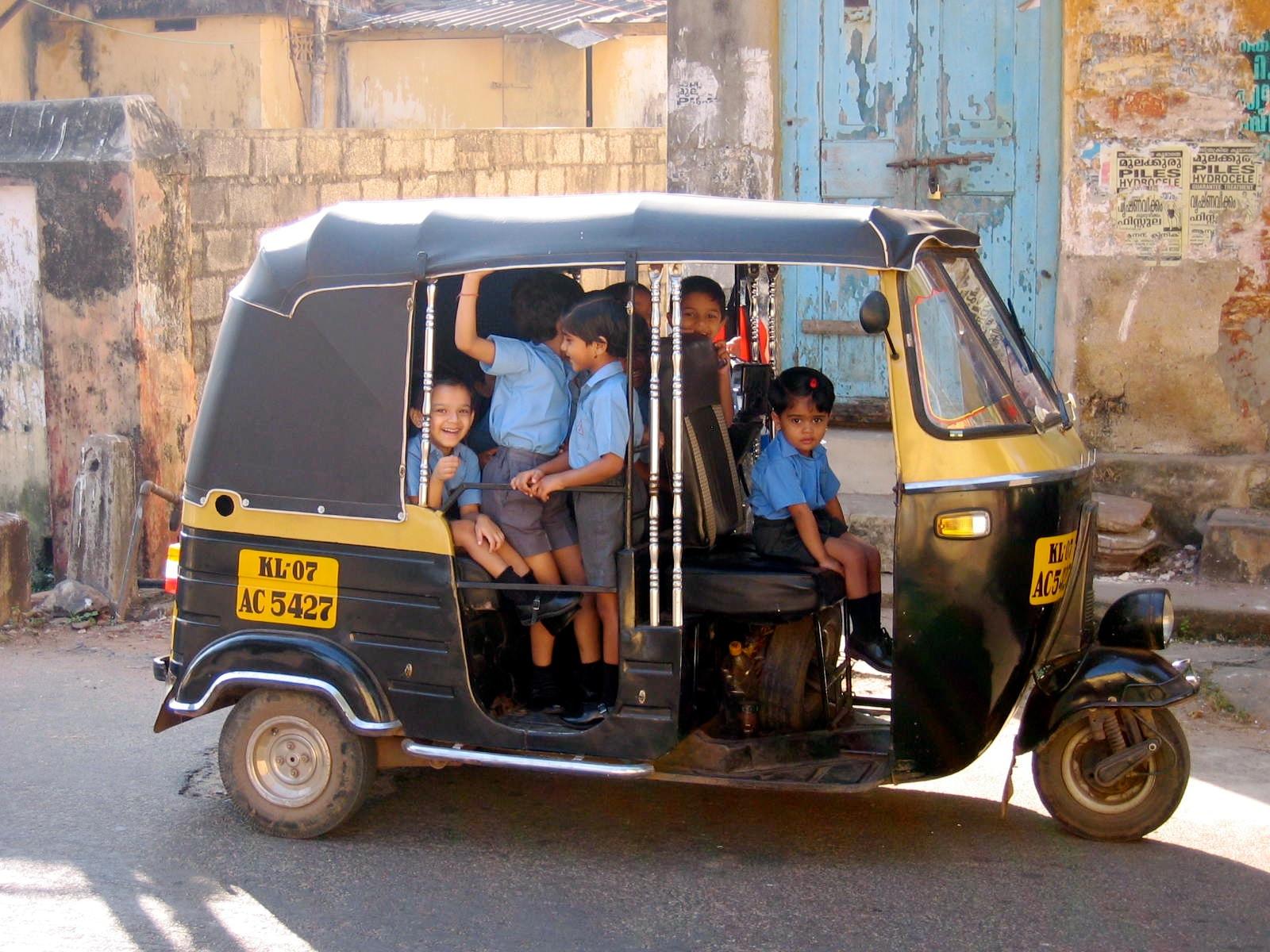 Kids going to school